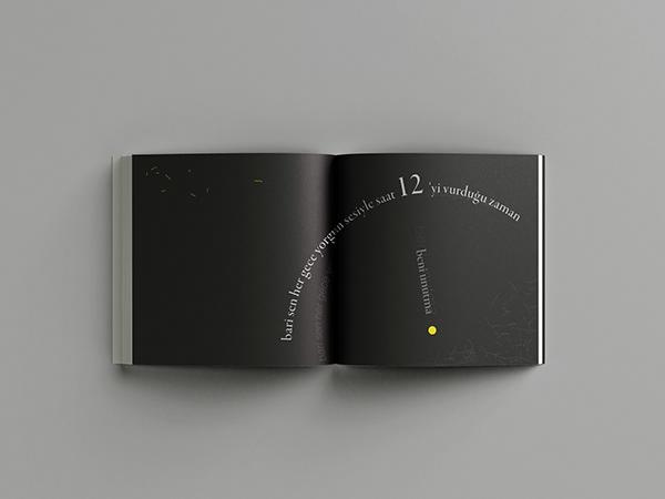 Beni Unutma   Ümit Yaşar Oğuzcan Typographic Book