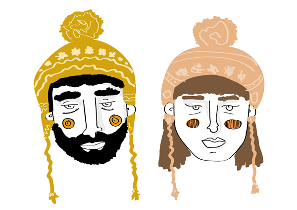 doodles people faces weird