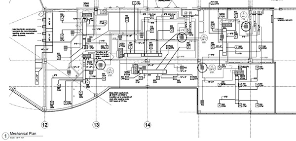 hvac mechanical drawings