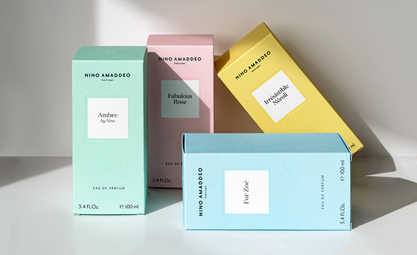 Visual identity and packaging design. Perfume