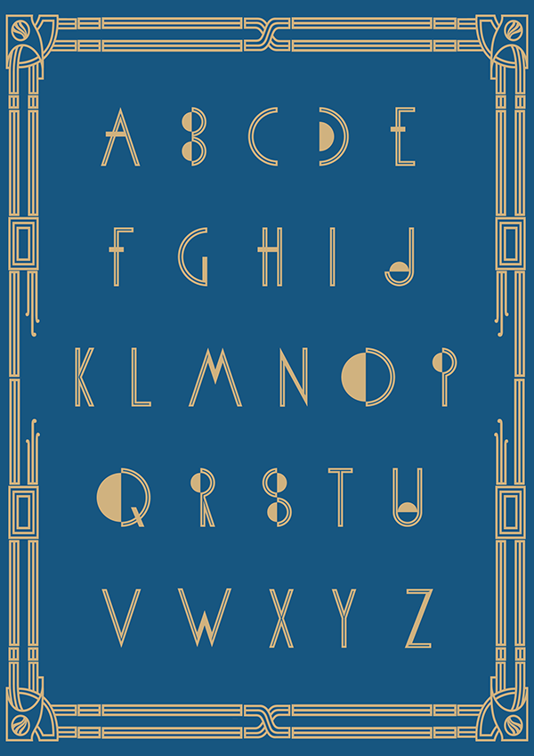 free Typeface art deco fritz lang metropolis fonts 20s deco font