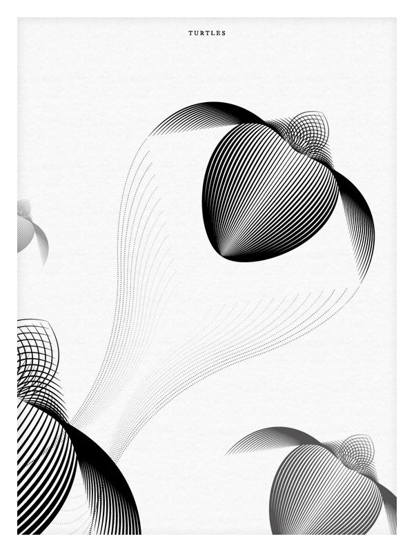animals moire bear polar penguin pelican killer Whale Turtle Illustrator black White pattern minimal blending