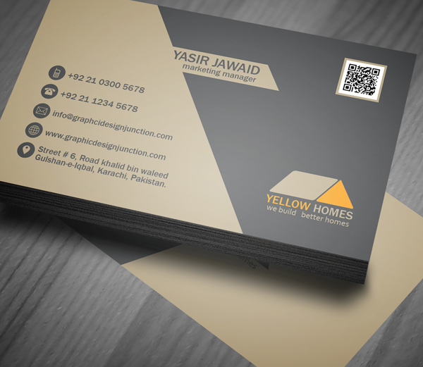 Real estate business card psd template freebie on behance wajeb Image collections