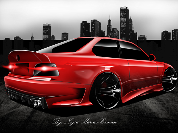 Bmw E36 Coupe Quot Wide Body Kit Quot On Behance