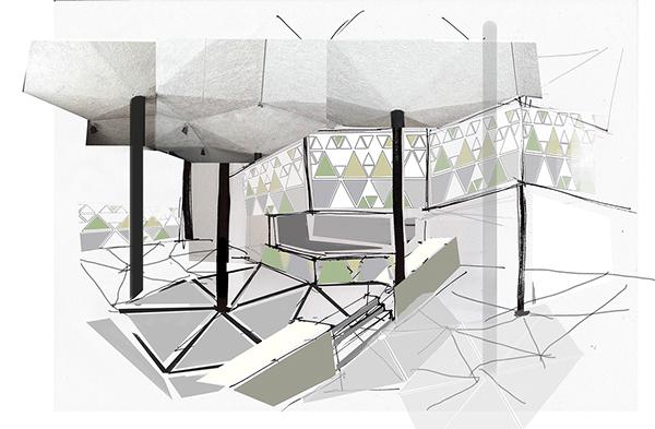 Interior Design Concept Flower Pavilion On Student Show