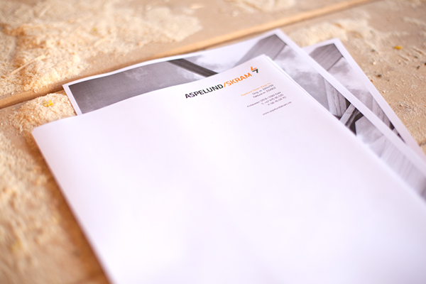 visual identity work wear carpenter wood building business card letterhead Outdoor norway