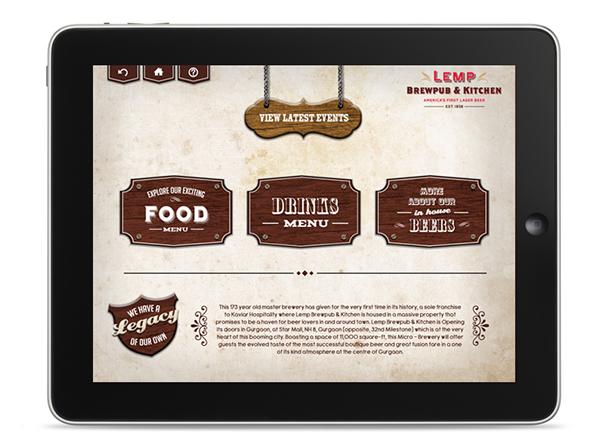 Lemp restaurant ipad app ui on behance