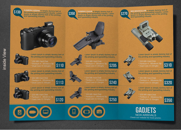 Gadgets and Gizmos Brochure Design | Modern Design on Behance