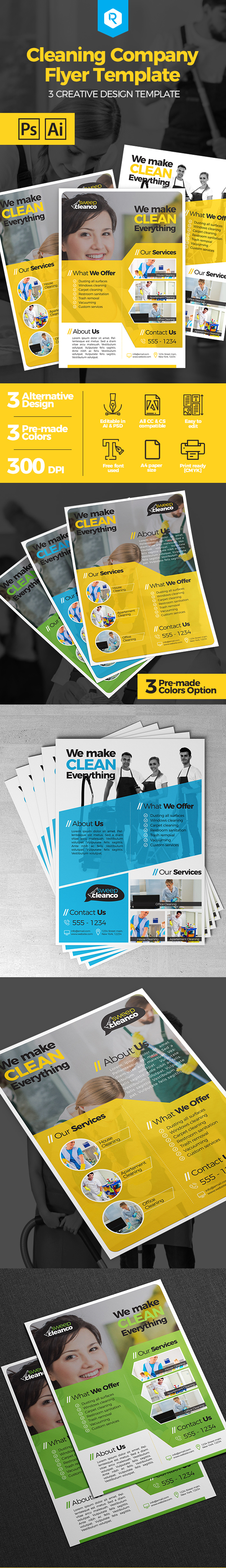 cleaning company flyer template on behance the resume here