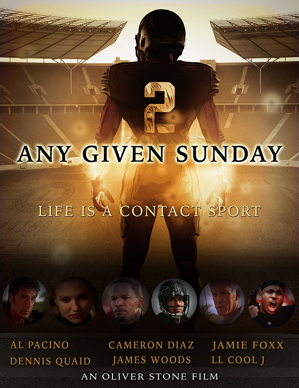 any given sunday movie poster on behance