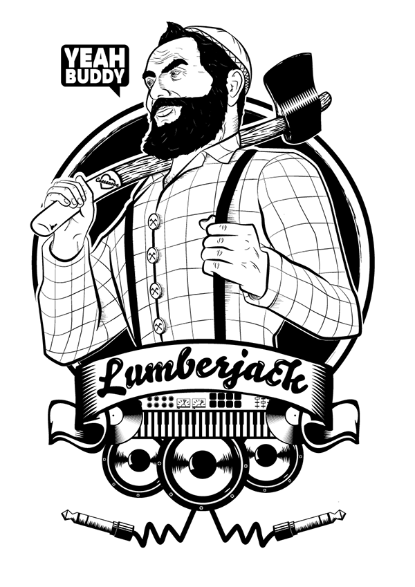 Lumberjack drawing