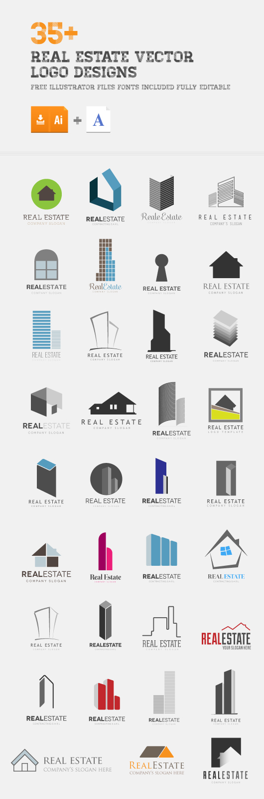30 real estate vector logo ideas on behance for Architecture and design company