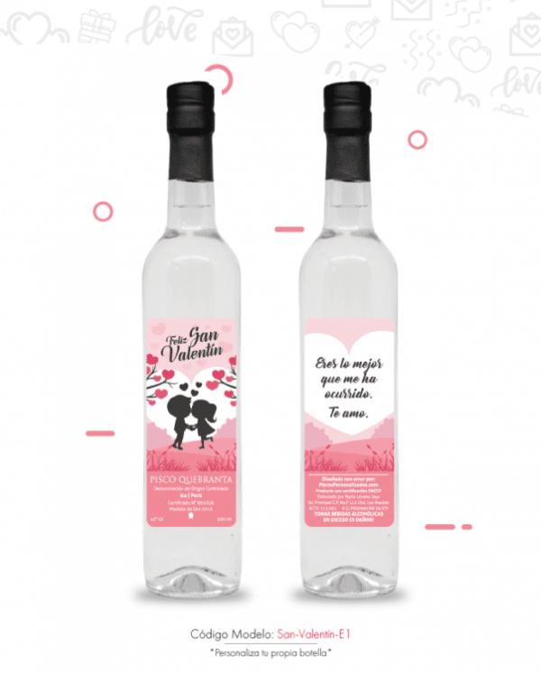 amor Detalles personalizados feliz san valentin piscos personalizados San Valentin