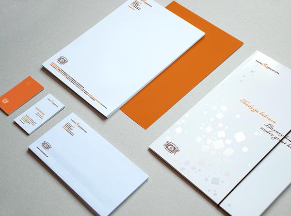 hotel wieliczka brand identity CI logo leaflet