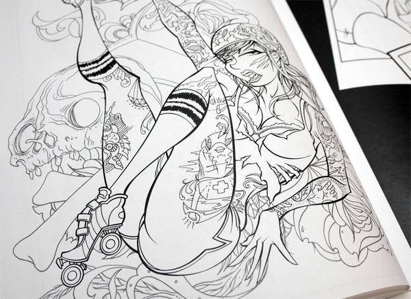 hot wax is a 32 page coloring and activity book full of games and sexy line art - Sexy Coloring Book