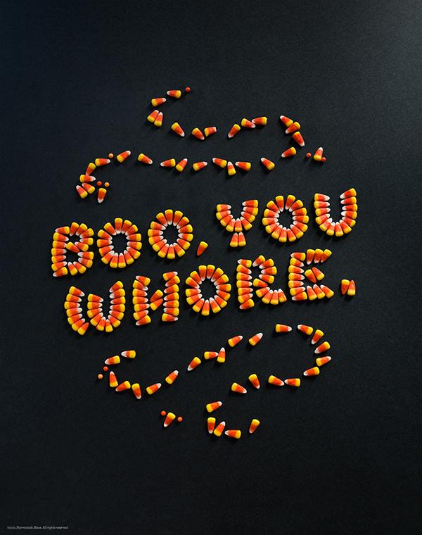Boo You Whore Food Type Iphone Desktop Wallpaper On Behance
