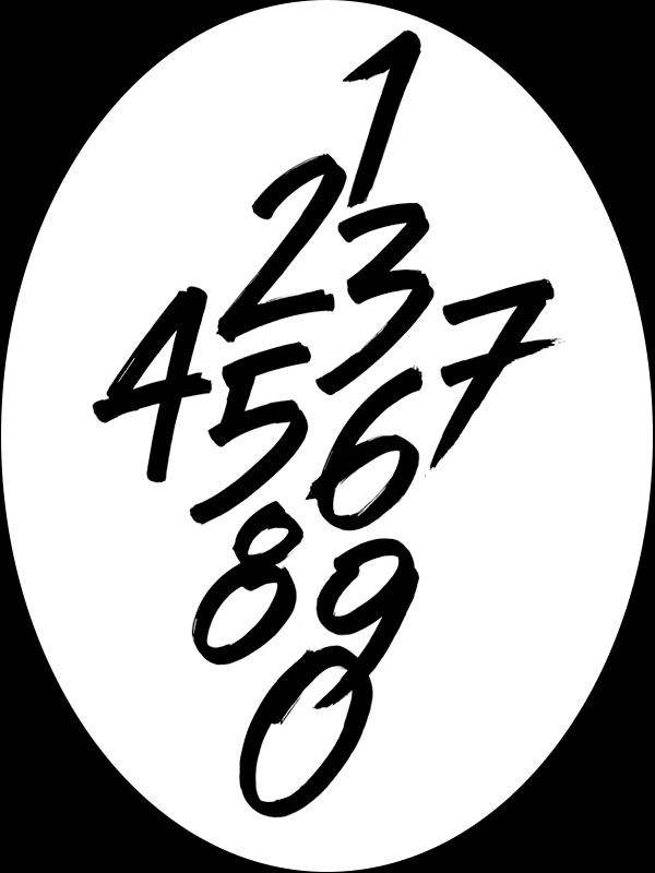 Numbers modern calligraphy on behance