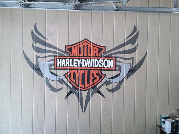 Harley davidson mural on behance for Thank you mural
