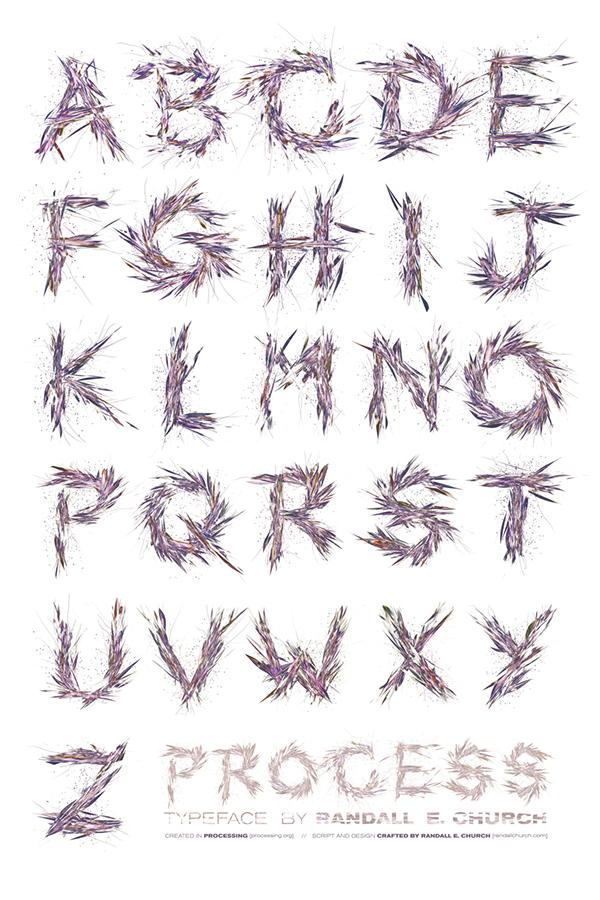 processing code generative art art poster letter print particle