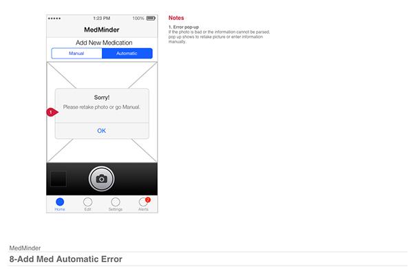 medical user design app design