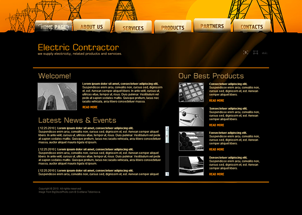Electric Contractor Dynamic Flash Template on Behance