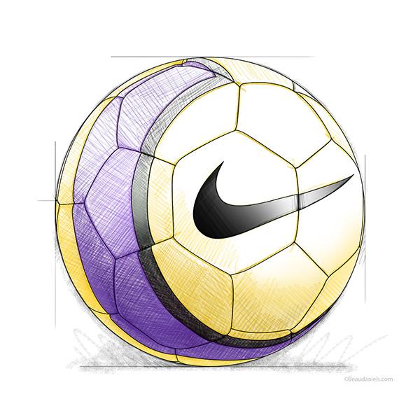 Картинки футбольных мячей карандашом