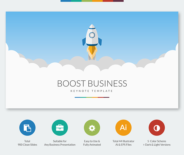 Boost Business Keynote Template On Behance - Keynote business plan template