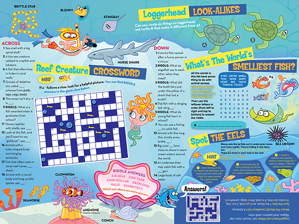 National Aquarium - Kids Club Insert on Behance