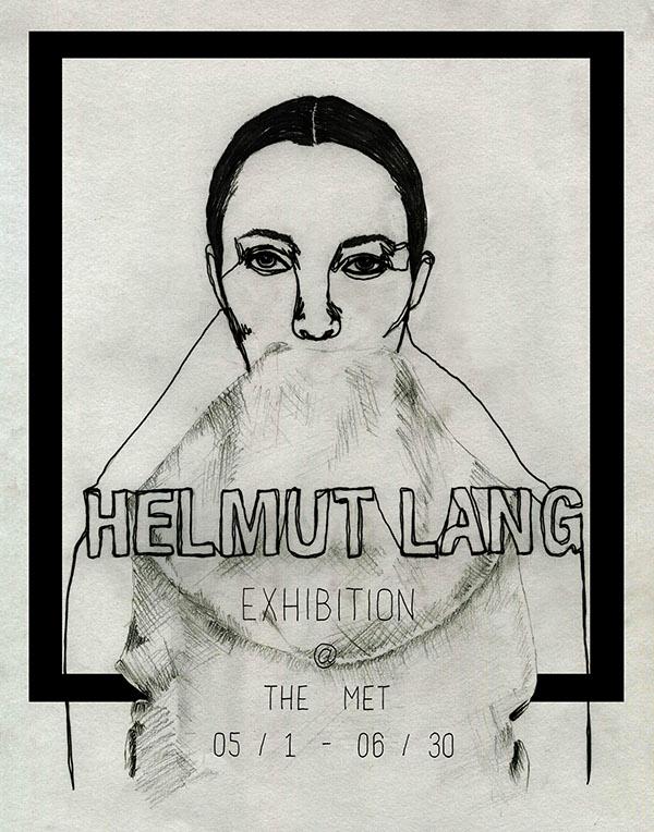 fake drawings helmut lang fake exhibition poster on scad portfolios