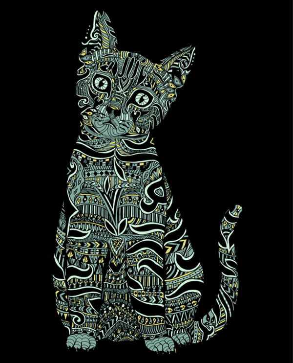 Patterned Animals On Pantone Canvas Gallery Inspiration Patterned Animals