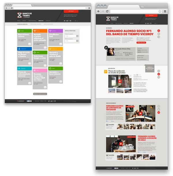 social network digital Advertising  UI ux ia