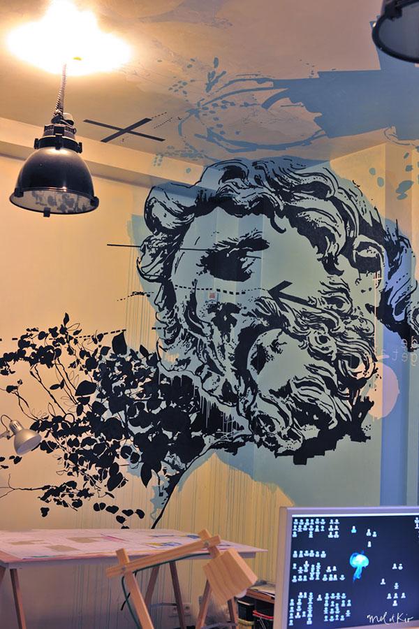 meletkio mel-et-kio le-marais LEMARAIS Paris design-mural walldesign