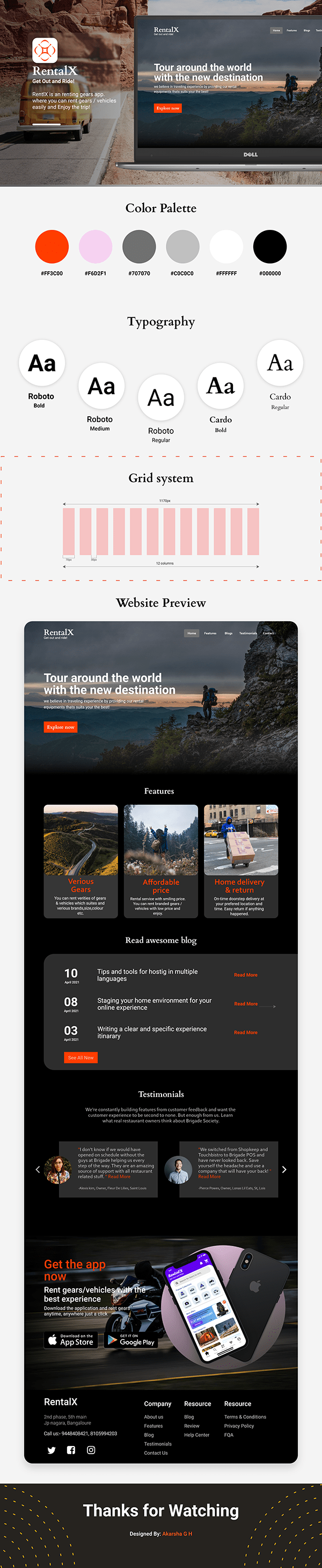 Website presentation - RentalX