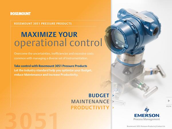 Rosemount 3051 Pressure Products Interactive Brochure on Behance