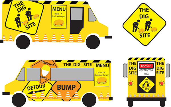 food truck template on behance