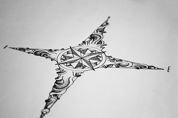 Wind rose tattoo design on Behance