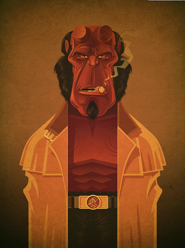 Hellboy Bluray by James Gilleard