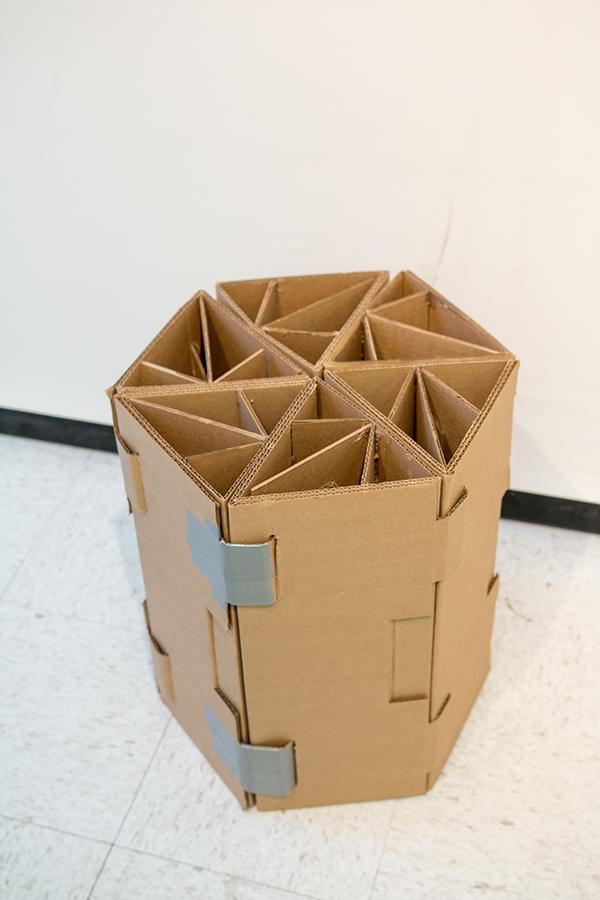 Modular Reconfigurable Cardboard Chair On Risd Portfolios