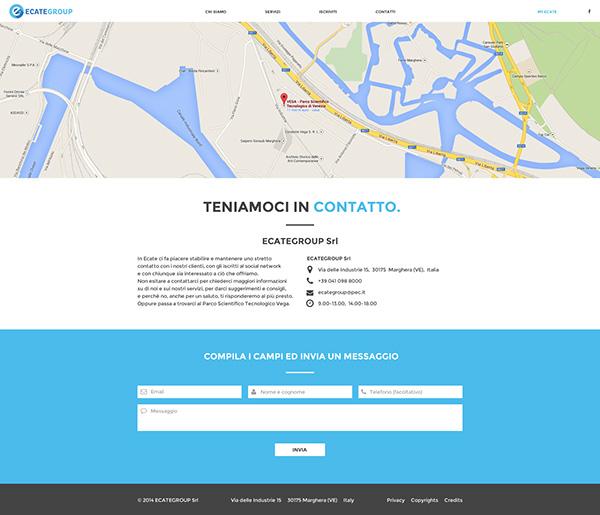 Ecate ecategroup Web Website flat design graphic job network social