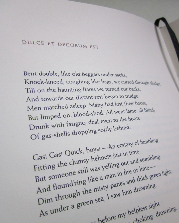 Jana Stone Book Wilfred Owen Poems