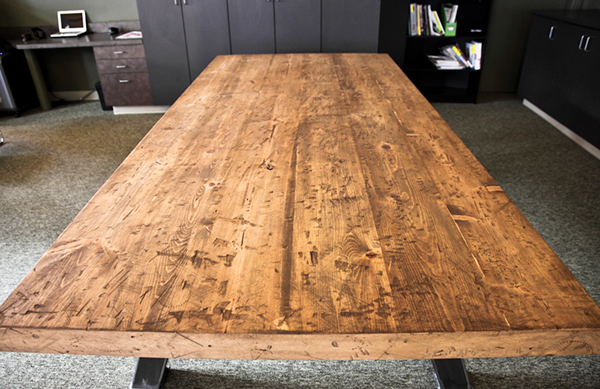 Distressed And Reclaimed Conference Table On Behance