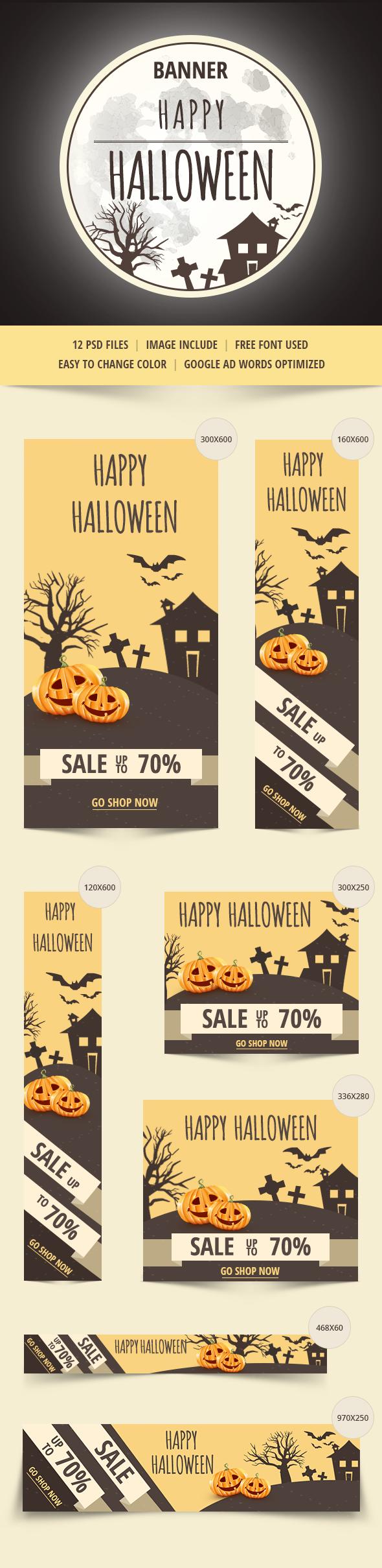 Halloween creative banner pumpkin ghosht ghost discount sale
