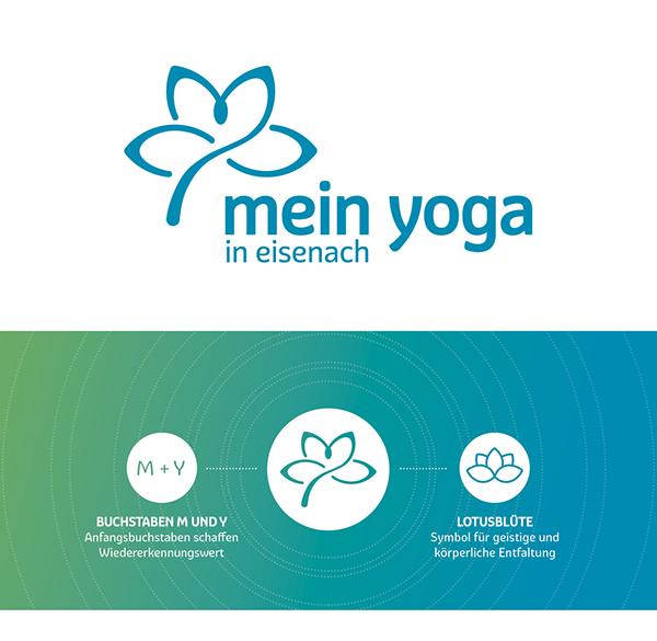 Mein Yoga In Eisenach Logo Briefpapier Visitenkarte On