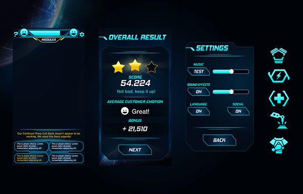 SIMPLE SCIFI GAME UI DESIGN On Wacom Gallery - Game ui design