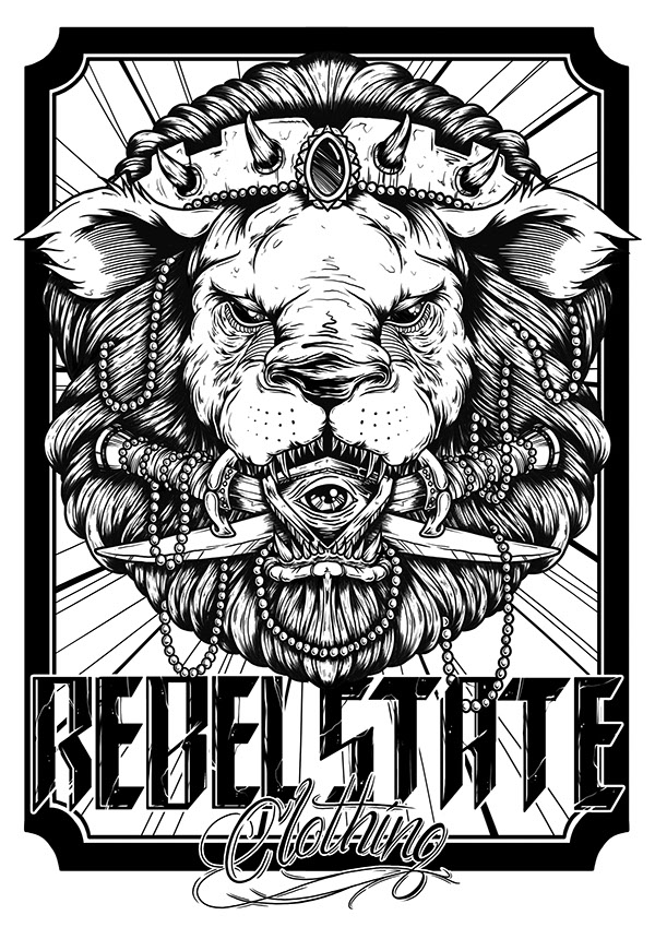 Royal Lion Rebel State Clothing On Behance