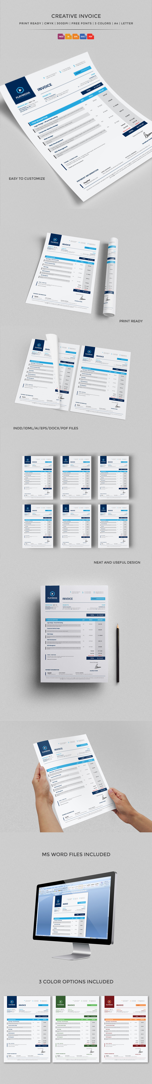 bill black blue clean creative customizable elegant Excel excel invoice green icons illustrator invoice indesign invoice invoice Invoice Template