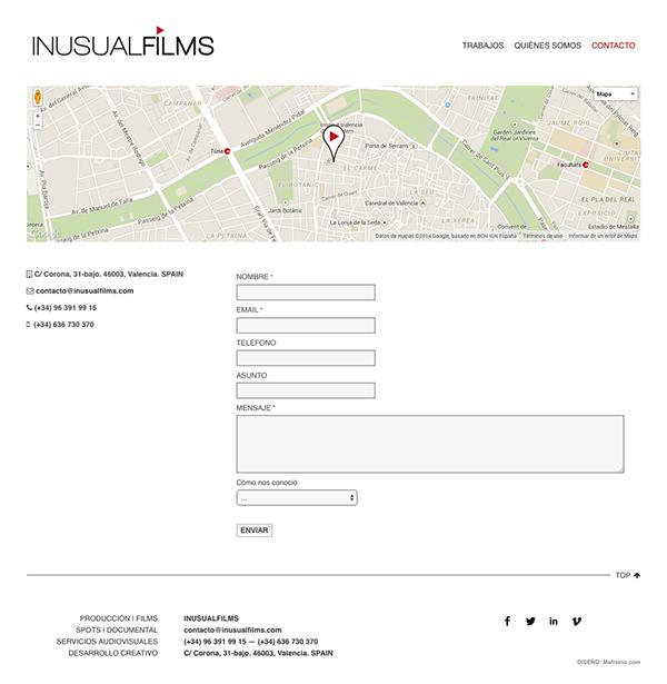 Diseño web cortometrajes peliculas shortfilms Producción Production