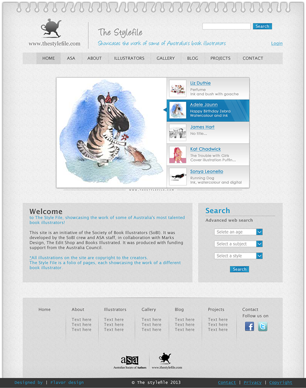 Sketch Website Template On Wacom Gallery