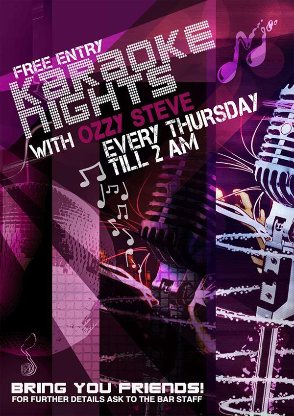 Karaoke Poster Idea Karaoke Thursday Nights Poster