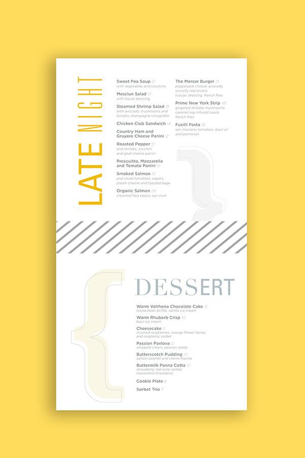 the mercer kitchen menu on fit portfolios
